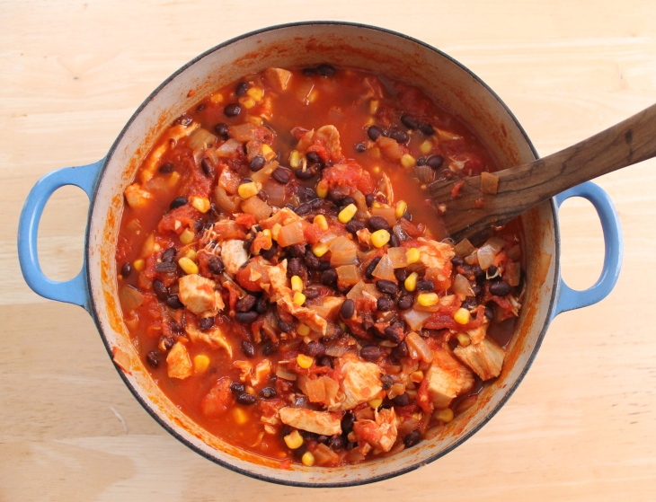 Chili in pot!